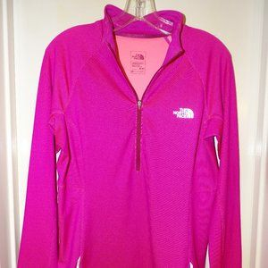 north face pink 1/4 zip pullover. like NEW. Sz M.